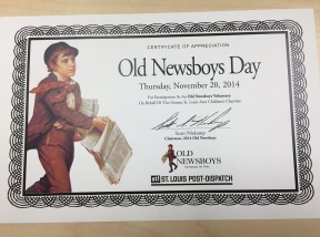Old Newsboys Day 2014